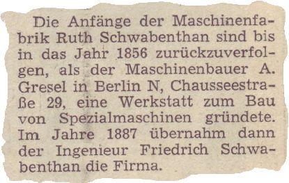 Zeitungsausschnitt Servitec Maschinenservice GmbH
