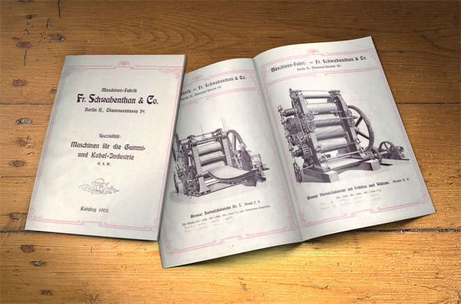 Historical product catalog of Schwabenthan